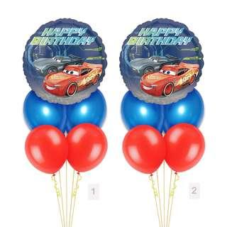 (SAVE $2) Disney Cars Happy Birthday Balloon Party Package Party Wholesale Singapore