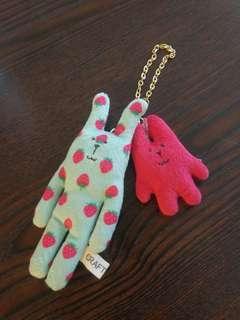 Craftholic cute bunny stuff toy keychain 鎖匙扣 公仔 兔
