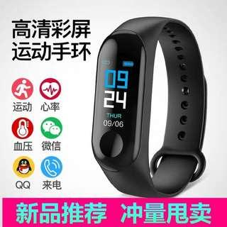 🚚 M3 generation color screen smart bracelet sports step multi-function heart rate blood pressure waterproof male and female students Bluetooth watch