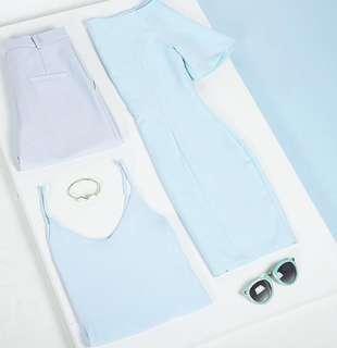 🚚 BN FAYTH BABY BLUE OFF SHOULDER DRESS