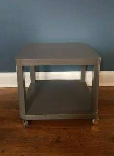 IKEA TINGBY Side Table on Castor/Wheel Bed side Coffee Table