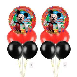 (SAVE $2) Mickey Mouse Red Happy Birthday Balloon Party Package Party Wholesale Singapore