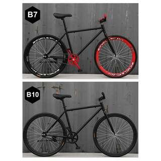 """*CNY SALES/ FREE GIFTS* 26"""" Black Frame & Black Rim Fixie With Black Tyre Coaster Brakes New Bicycle"""
