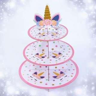 Unicorn theme party supplies - cupcake stand / dessert stand / party deco