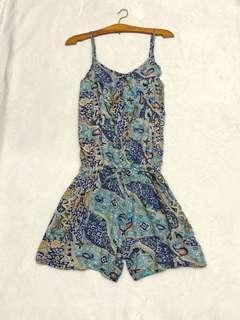 Paisley patterned romper