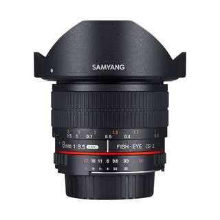🚚 Samyang 8mm f3.5 Fisheye CS II Lens (Detachable Hood) (Canon Nikon Fujifilm Sony Mount 8mm F3.5 f 3.5)