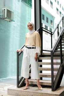 High Waist Pants White (BNIB)