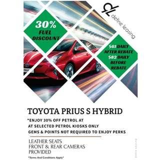 BRAND NEW PRIUS S HYBRID FOR RENT!!!