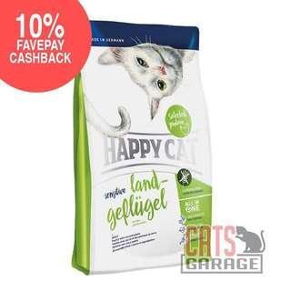 🚚 Happy Cat® Sensitive - Land-Geflügel Organic Poultry Gluten Free (2 Sizes)