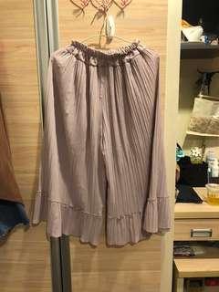 🚚 粉色百摺褲裙