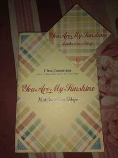 Novel You Are My Sunshine