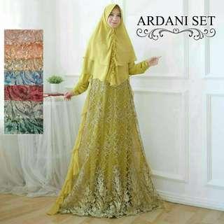 🚚 8 colors Jubah long dress and khimar set