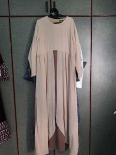 🚚 Long beige dress brand new size XL