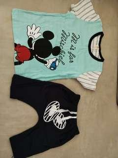 Used Once Boy Mickey Set 2-3yrs old