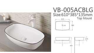 Black line designer basin