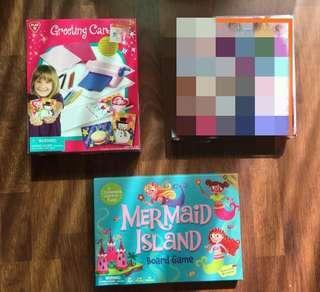Mermaid, and Card making Board Games