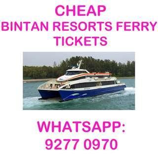 CHEAP Bintan Resorts Ferry Tickets (To Bintan Resorts/Lagoi)
