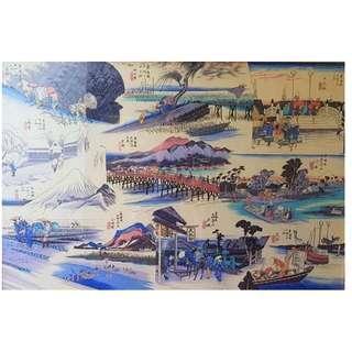 Collectible JAPANESE BLUE SILK ART & Framing byFramingAngie