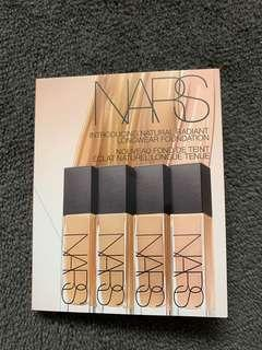 8 samples of Nars natural radiant longwear foundation