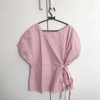 This Is April Dusty Pink Ribbon Blouse