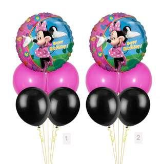 (SAVE $2) Minnie Mouse Happy Birthday Balloon Party Package Party Wholesale Singapore