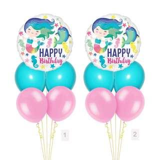 (SAVE $2) Ocean Mermaid Narwhale Balloon Party Package Party Wholesale Singapore