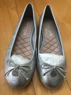 Next 銀色平底鞋 size:37.5