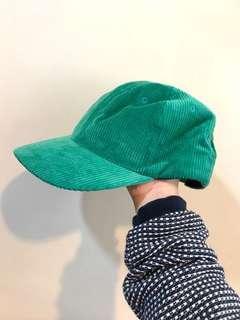 👦🏻👩🏻🦰古著 燈芯絨 棒球帽 老帽 美式復古 綠帽