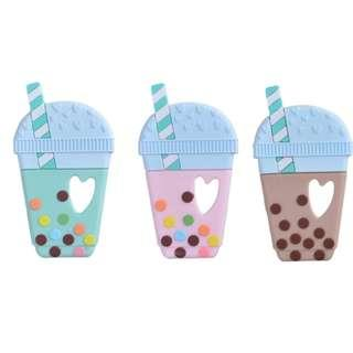 🚚 New Baby Infant Food Grade Teething Teether Bubble Tea Toy