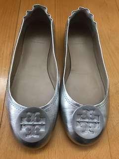 Tory Burch 銀色平底鞋 size:7.5