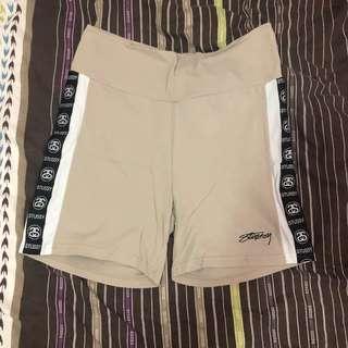 Beige Stussy Bike shorts