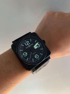 LOWEST PRICE!! Like New Bell & Ross BR 01 92 Carbon PVD 46mm Latest model