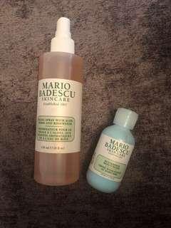 Mario Badesco Facial Spray and buttermilk moisterizer