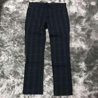 AT-20 Ultra Slim Checked Navy/Green Pants👖