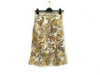 Full Print Floral Motif Design Skirt