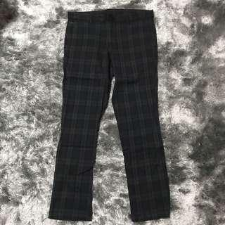 AT-20 Ultra Slim Checked Black/Dark Grey Pants👖