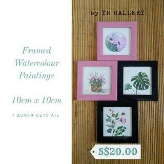 🚚 FRAMED WATERCOLOUR PAINTINGS