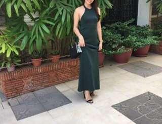 Pine Green evening dress