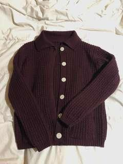 🚚 Knitted maroon sweater