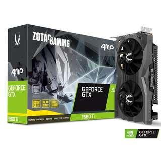 ZOTAC GTX1660TI AMP EDITION 6GB GDDR6 GRAPHIC CARD