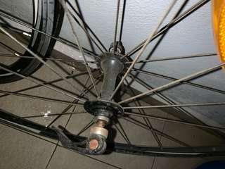 Road bike alloy rim 8 speed wheelset