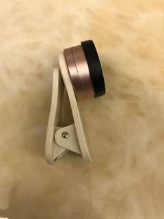🚚 玫瑰金 0.36X 超 廣角鏡頭 +15x 微距 二合一鏡頭組