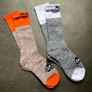 🚚 XLarge X-LARGE  18SS tone socks 長筒襪 毛線襪 雪花襪 日潮 秋冬加厚 粗線襪 撞色