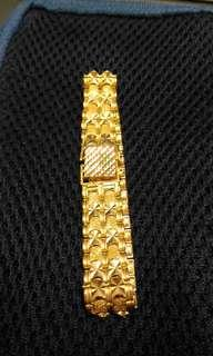 Gold bracelet, 22K, Pre-owned