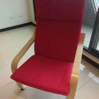 Ikea 扶手椅 紅色椅套