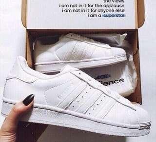 Adidas Triple White Superstars