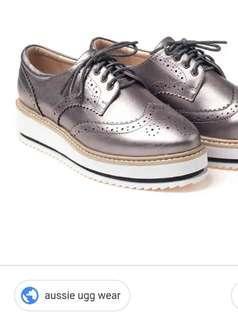 UGG platform oxford shoes
