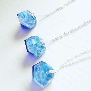 深藍鑽石海紋頸鏈