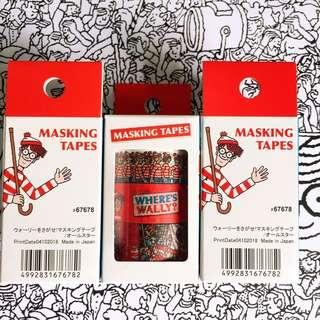 Wally Masking Tapes (一盒三款) 🇯🇵2019 Where's Wally 日本展覽 又嚟啦 🇯🇵日本展覽限定商品 Wally stickers 🔎🔍🔎