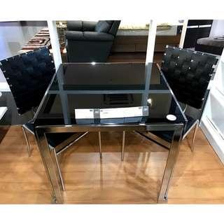 Blims Furniture Elegant Black Dining Set